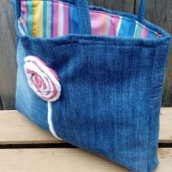 Kids Handbag (from recycled jeans) Lollipop Fully Lined Bag Gift Tote FREE UK POSTAGE 8