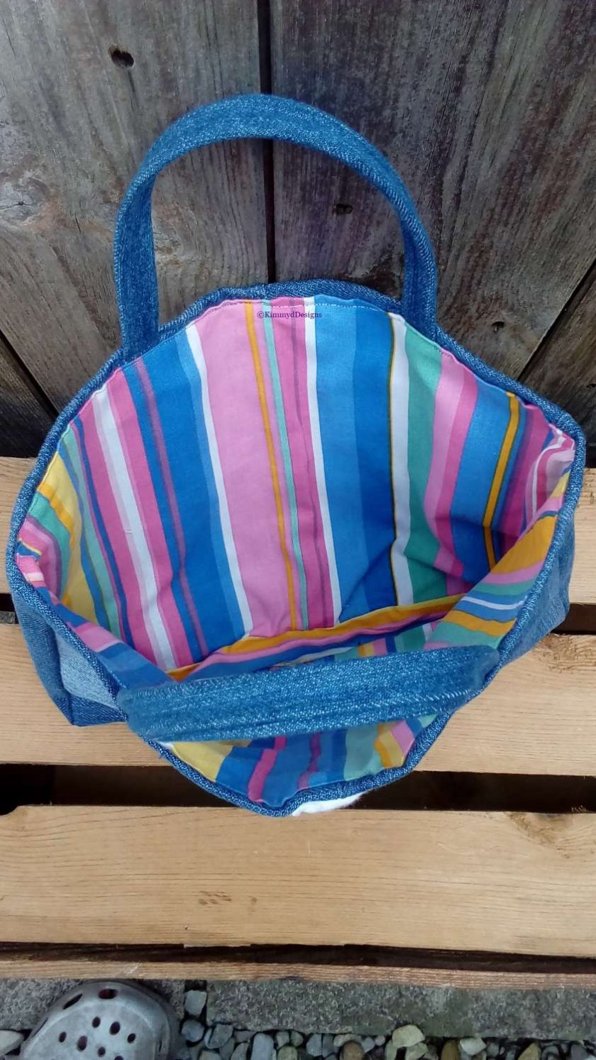 Kids Handbag (from recycled jeans) Lollipop Fully Lined Bag Gift Tote FREE UK POSTAGE 4
