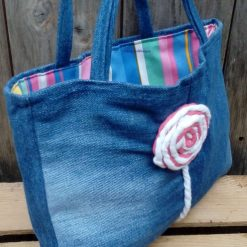 Kids Handbag (from recycled jeans) Lollipop Fully Lined Bag Gift Tote FREE UK POSTAGE 10