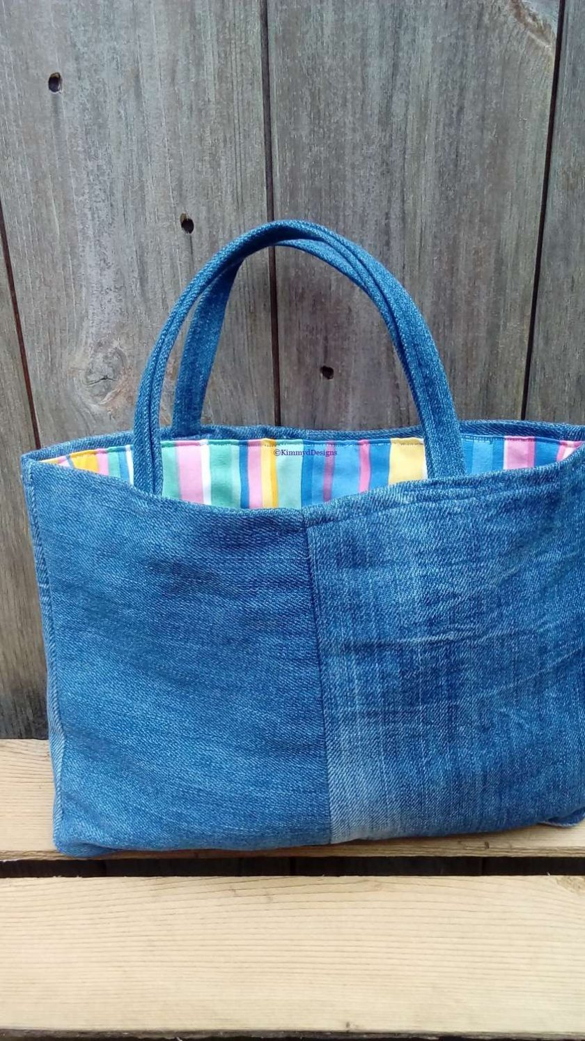 Kids Handbag (from recycled jeans) Lollipop Fully Lined Bag Gift Tote FREE UK POSTAGE 6