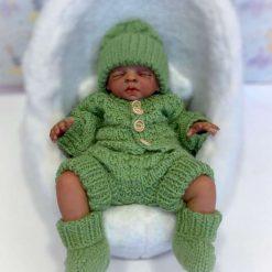 """Baby Thomas 5-Piece Set Knitting Pattern~DK~Premature or 15-17"""" Reborns 4"""