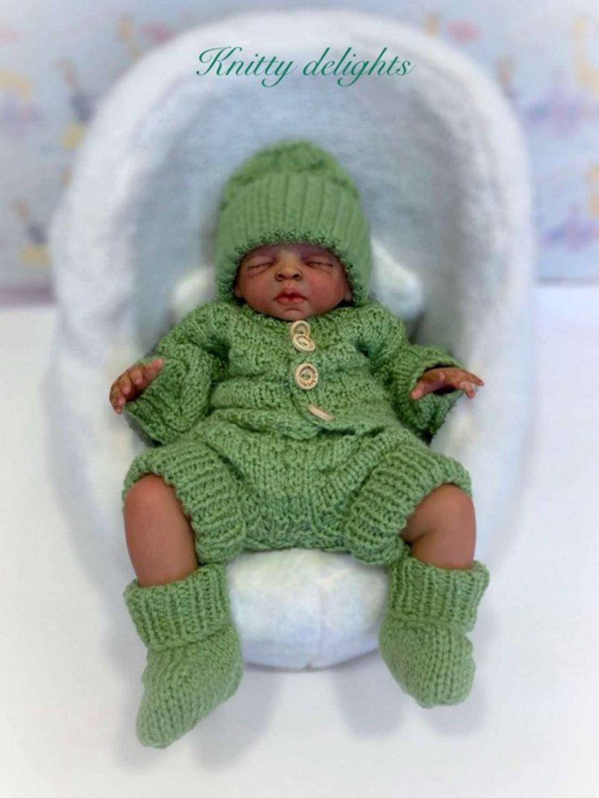 """Baby Thomas 5-Piece Set Knitting Pattern~DK~Premature or 15-17"""" Reborns 2"""