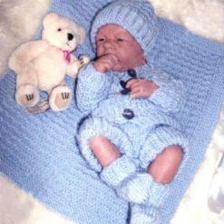 """Baby Thomas 5-Piece Set Knitting Pattern~DK~Premature or 15-17"""" Reborns 5"""