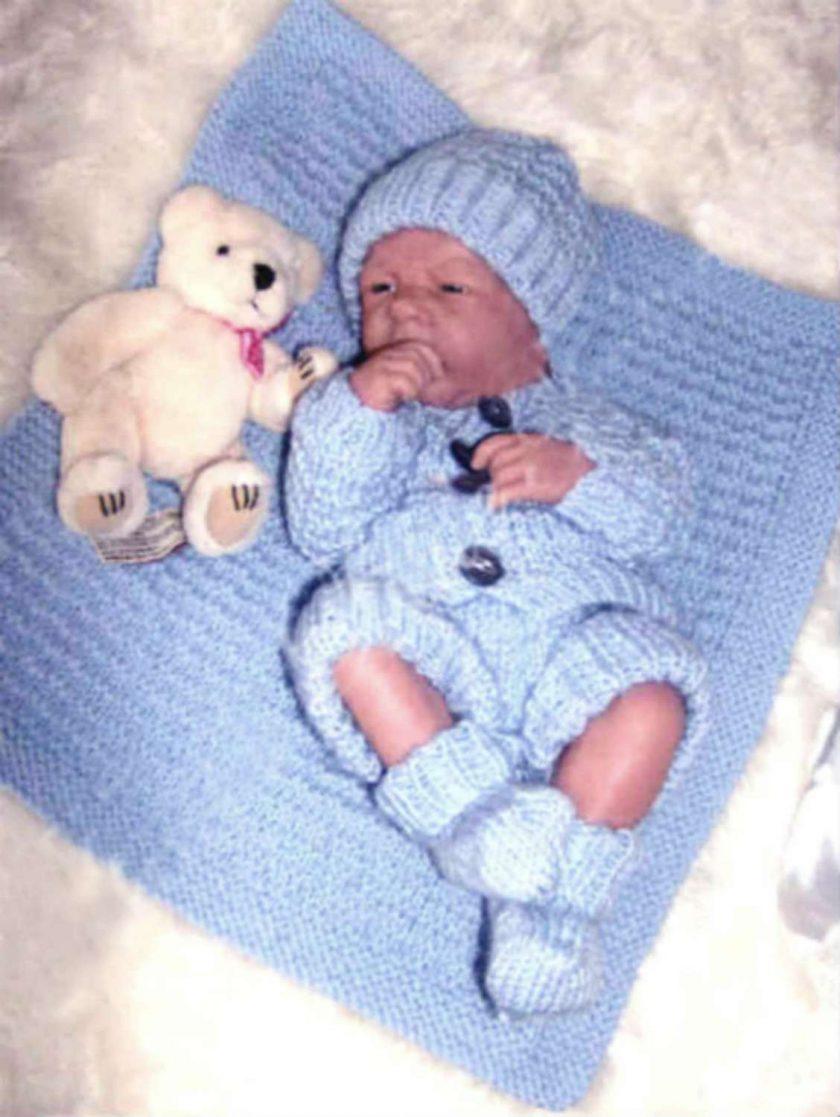 """Baby Thomas 5-Piece Set Knitting Pattern~DK~Premature or 15-17"""" Reborns 3"""