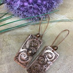 Etched Copper Earrings 3