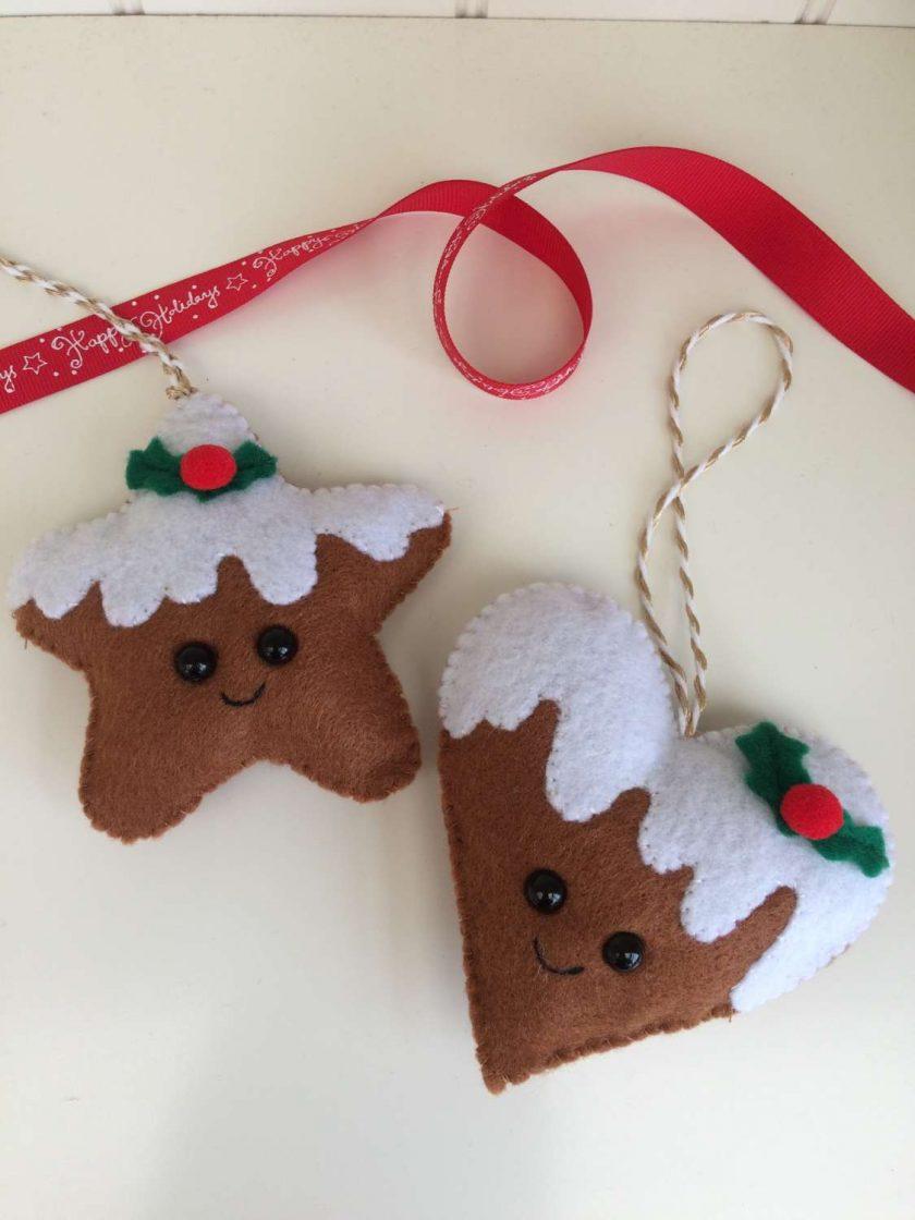 Gingerbread felt decorations 1
