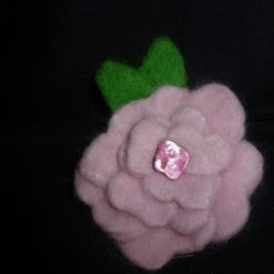 Large Hand Needle Felted Flower Brooch 3
