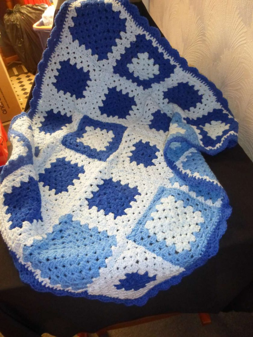 Crochet Baby Blanket for Crib, Push Chair and Car Seat 1
