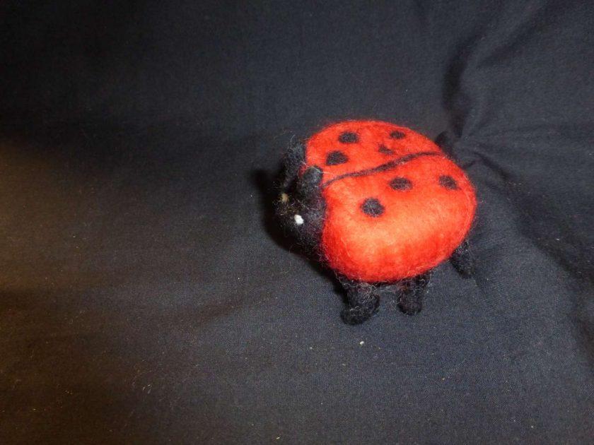 Ladybird Hand Needle Felted Ornament 1