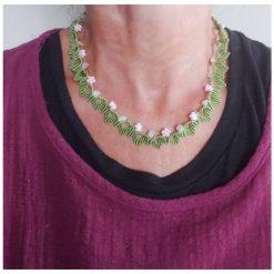 Floral macrame necklace 5
