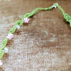 Floral macrame necklace 7