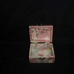 Small Treasure Chest Box with Decopatch covering 3