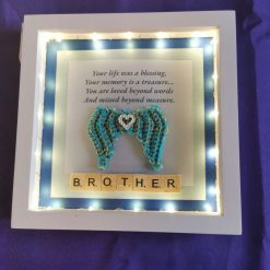 Angel Wings Personalised Box Picture With Lights 3