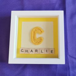 Crocheted Initial Personalised Box Picture 3