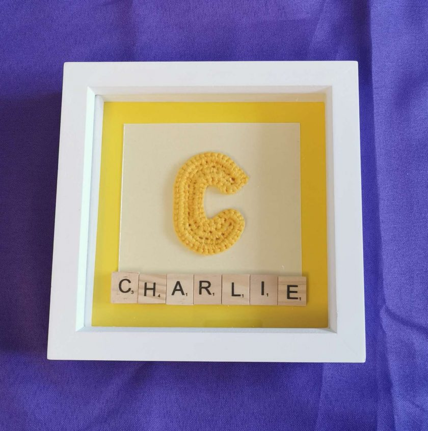 Crocheted Initial Personalised Box Picture 2