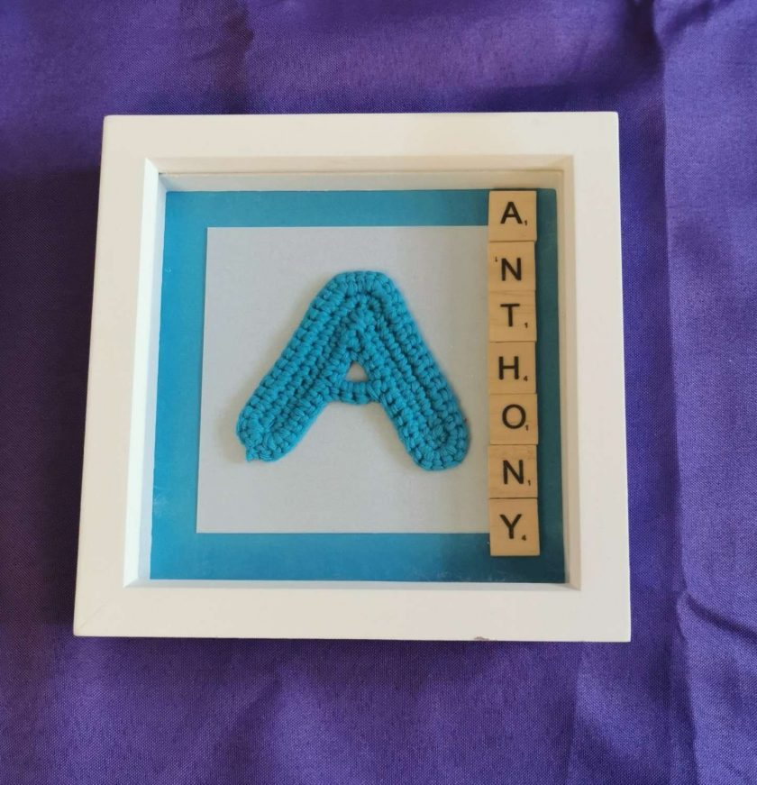 Crocheted Initial Personalised Box Picture 1
