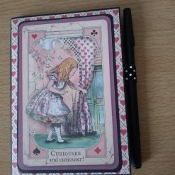 Alice in Wonderland mini notebook and pen