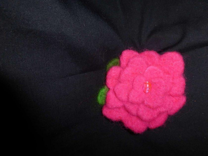 Flower Brooch - Hand Needle Felted 1