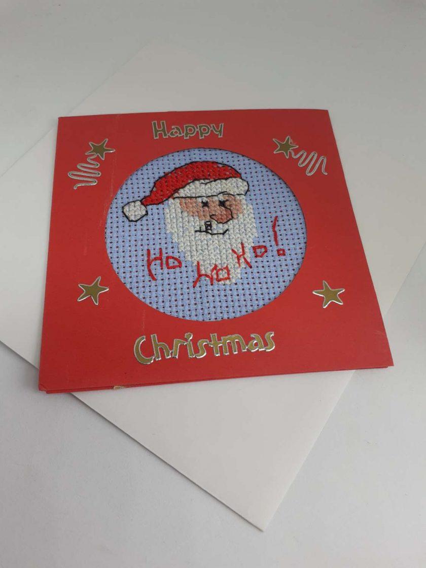 Cross stitch santa card 1