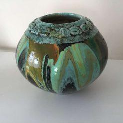 Original Upcycled Acrylic pour Bowl 5
