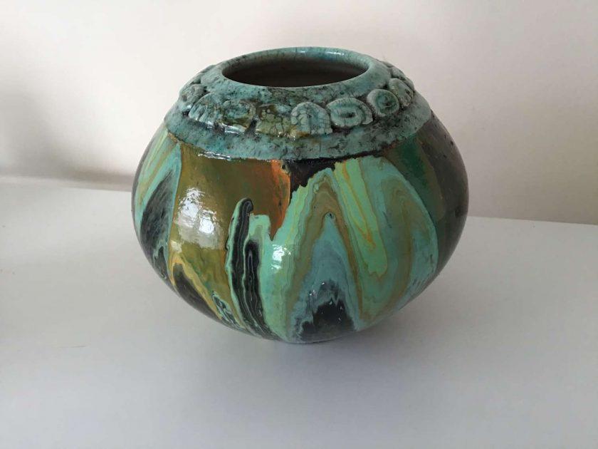 Original Upcycled Acrylic pour Bowl 1