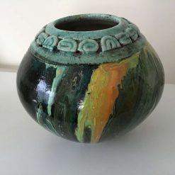 Original Upcycled Acrylic pour Bowl 6