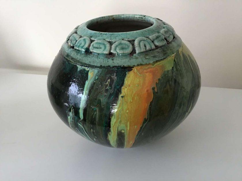 Original Upcycled Acrylic pour Bowl 3