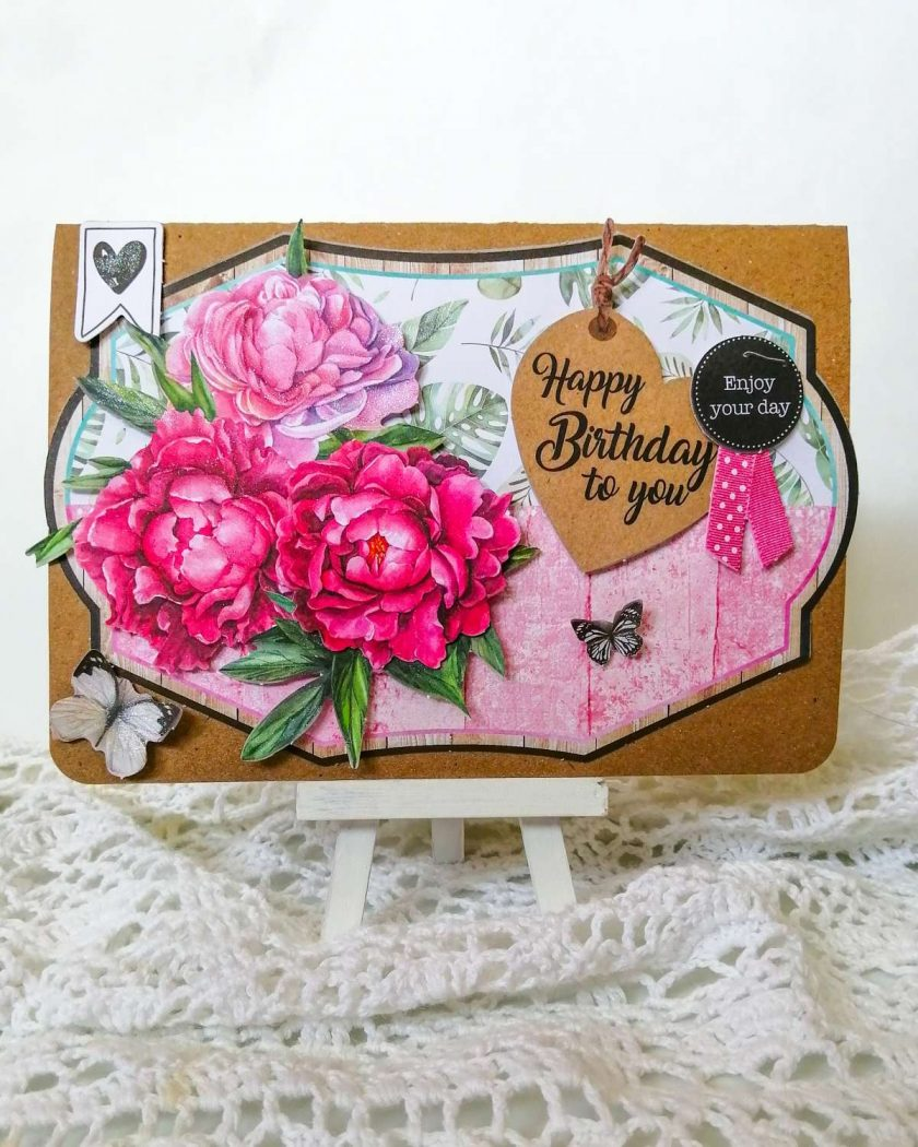 Handmade Floral Birthday Card 1