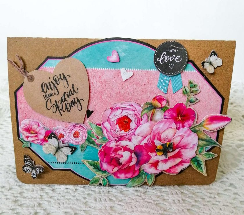 Handmade Anniversary Card, Wedding Card 1