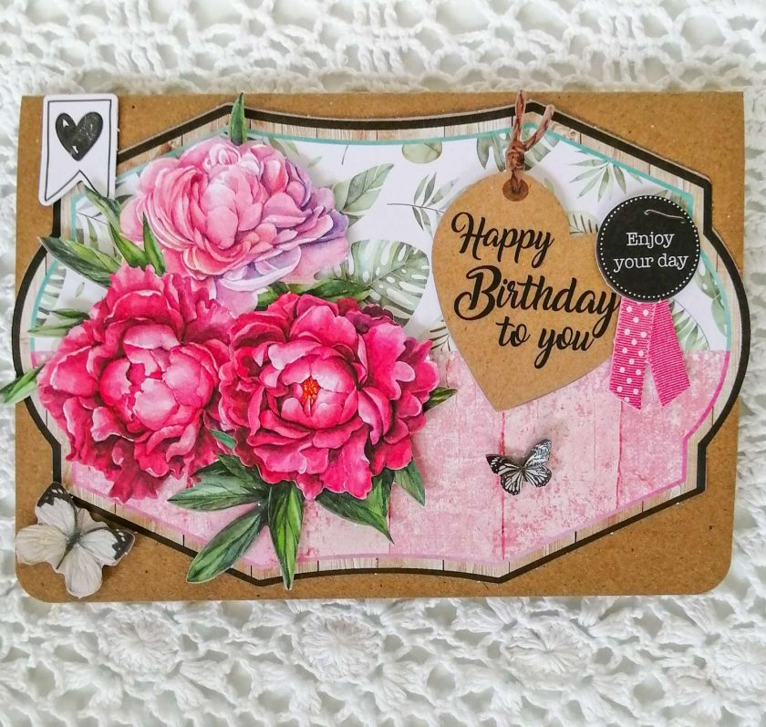 Handmade Floral Birthday Card 2