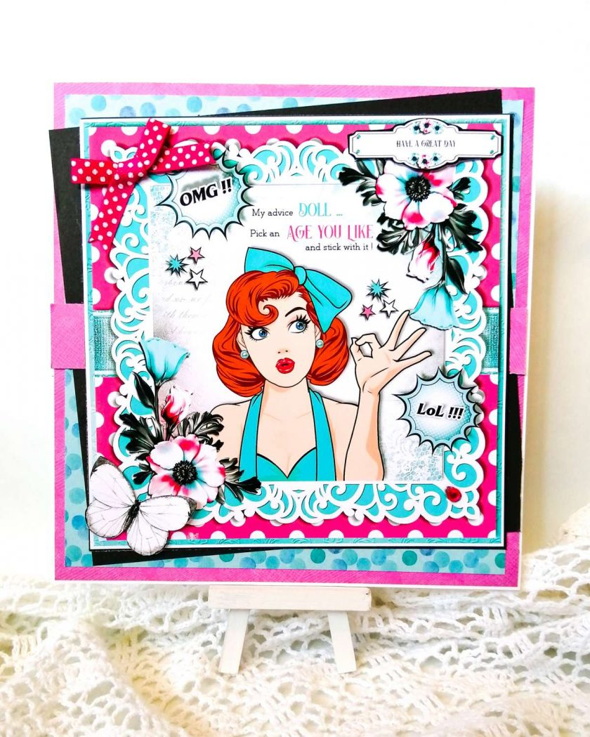 Extra Large Special Birthday Card 50s Style 1