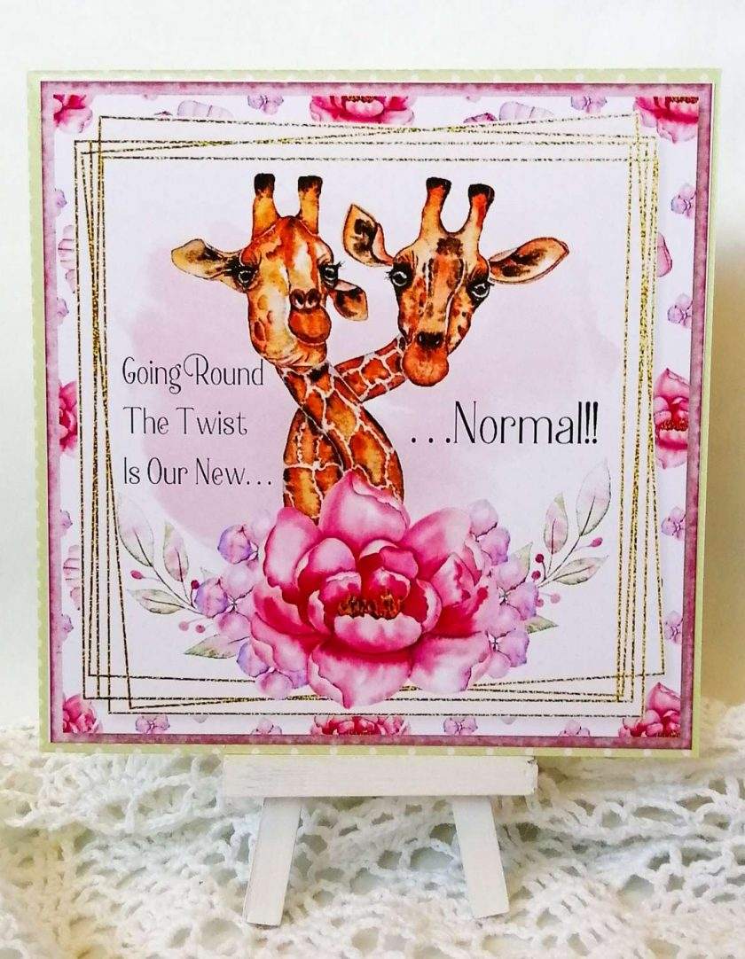 Handmade Birthday Card - humour, giraffe 1