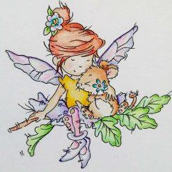 Handmade Birthday Card - Fairy Hugs 3