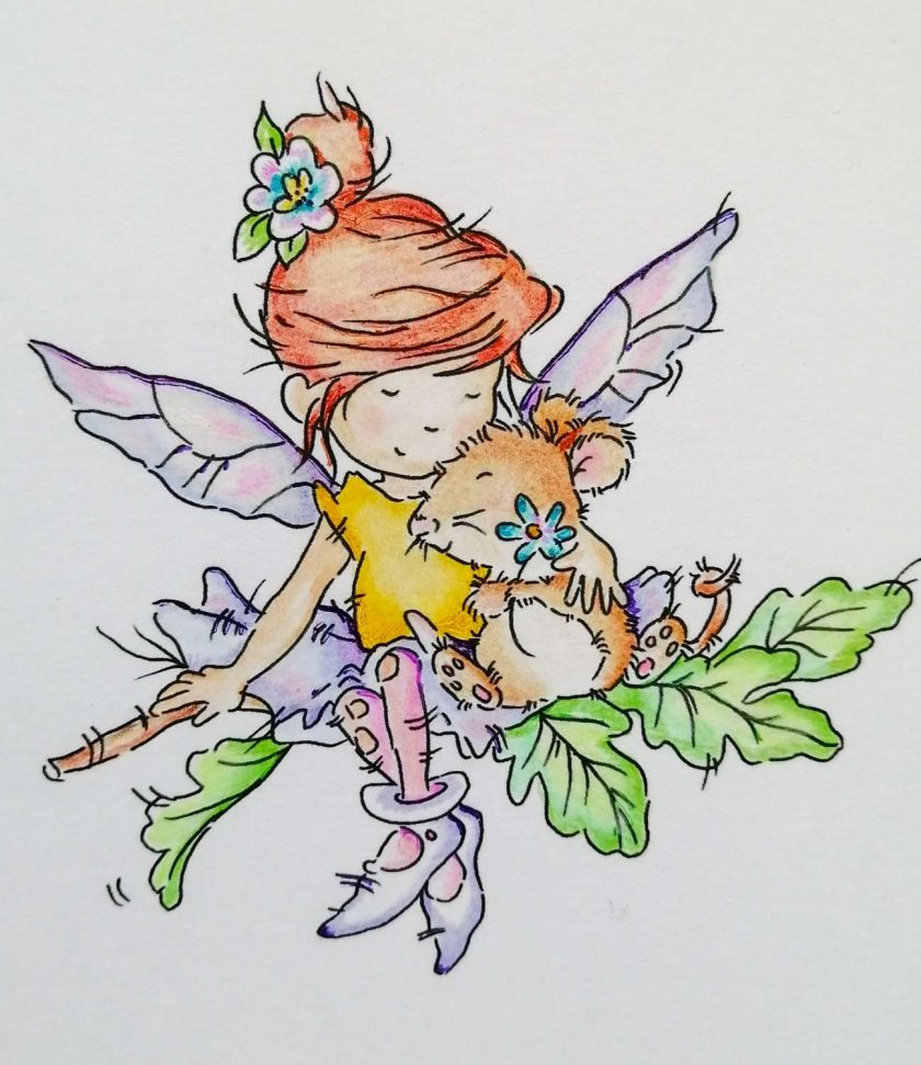 Handmade Birthday Card - Fairy Hugs 2