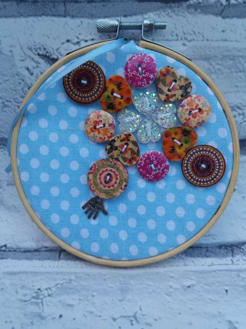 Embroidery hoop hanging decorations 3
