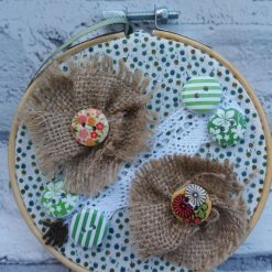 Embroidery hoop hanging decorations 8