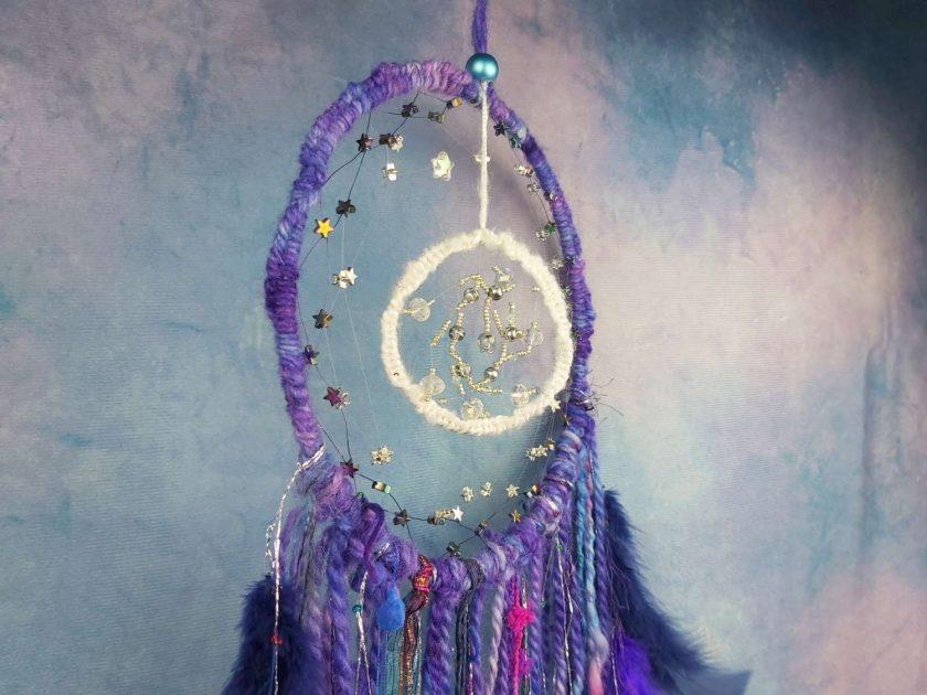 Moon and stars dreamcatcher 2