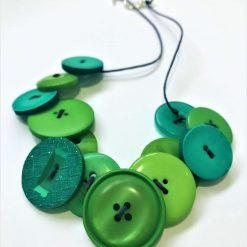Green button necklace (short) 8