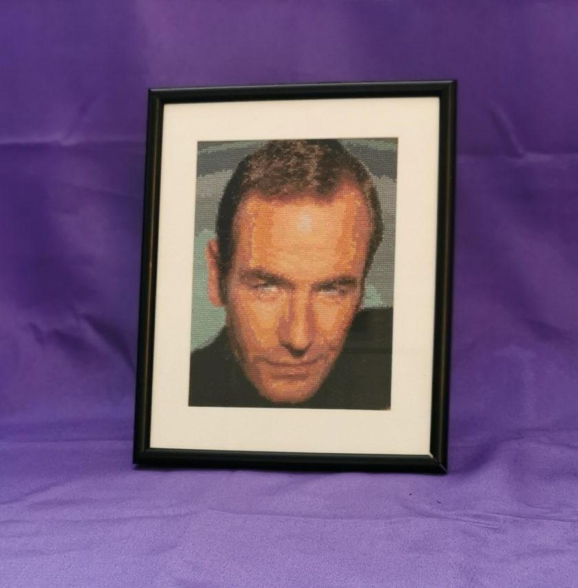 Bespoke Robson Green Cross Stitch Picture 1