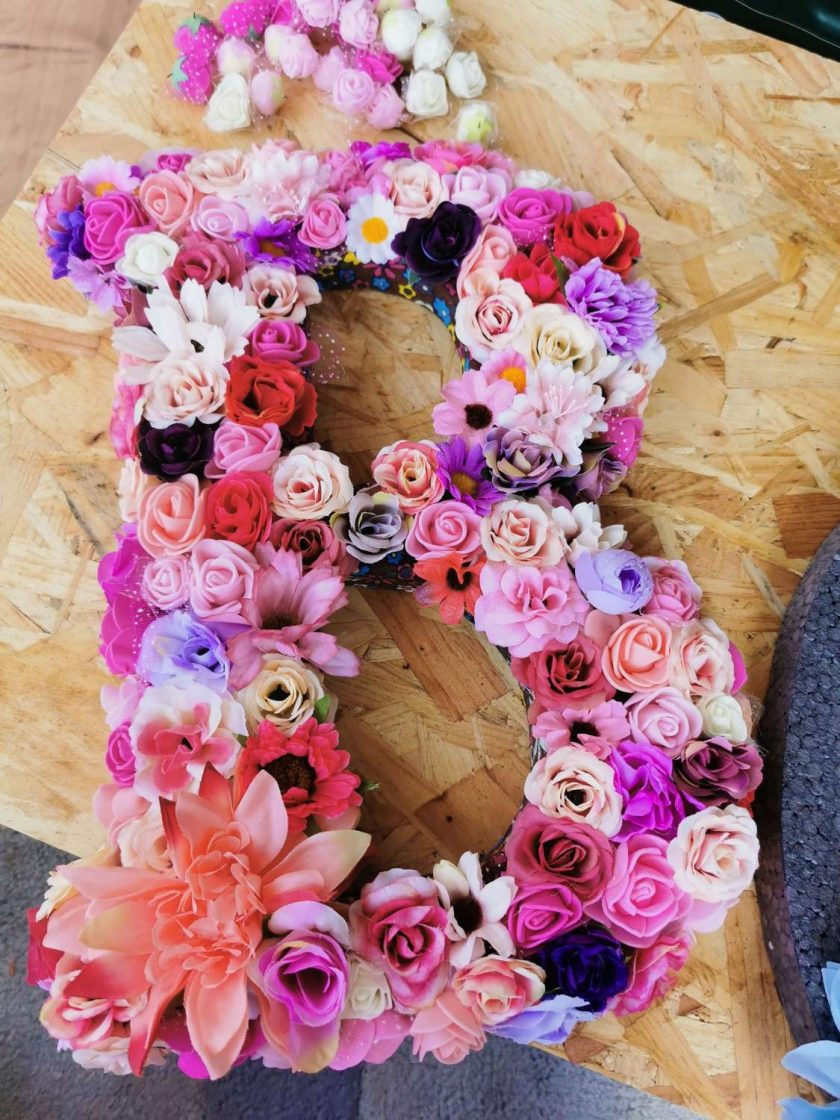 Flowery letters/numbers made to order 2