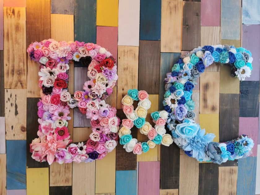 Flowery letters/numbers made to order 3