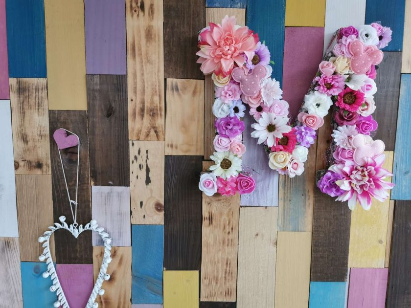 Flowery letters/numbers made to order 5