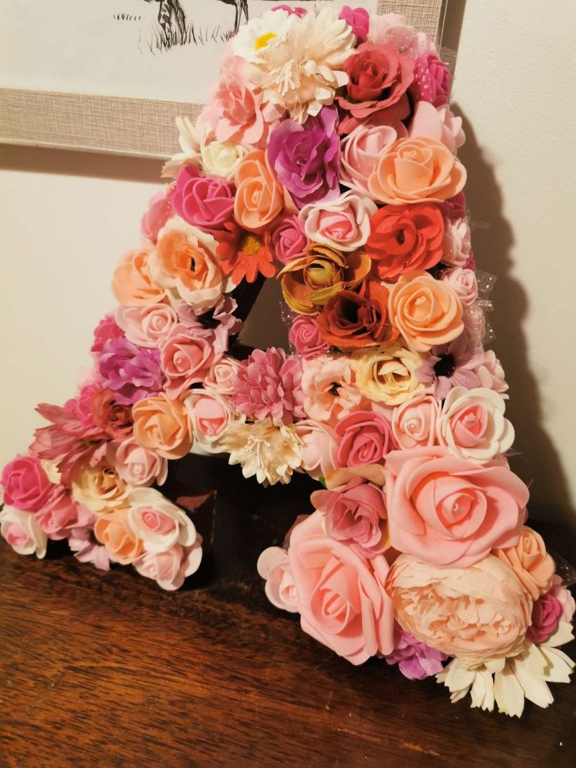 Flowery letters/numbers made to order 6