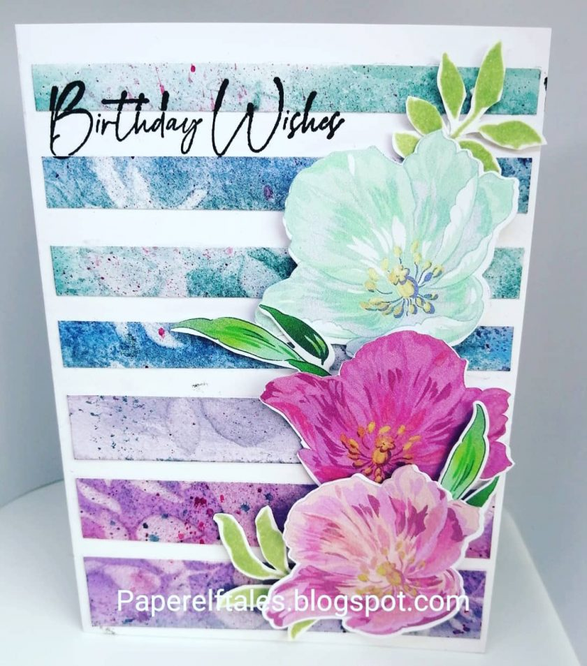 Handmade Birthday Card  - Fresh Modern Blooms 1