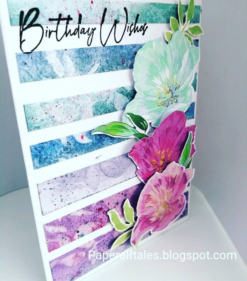 Handmade Birthday Card  - Fresh Modern Blooms 2