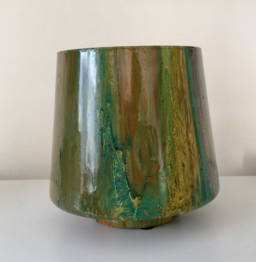 Original Upcycled Acrylic pour Glass Bowl 1