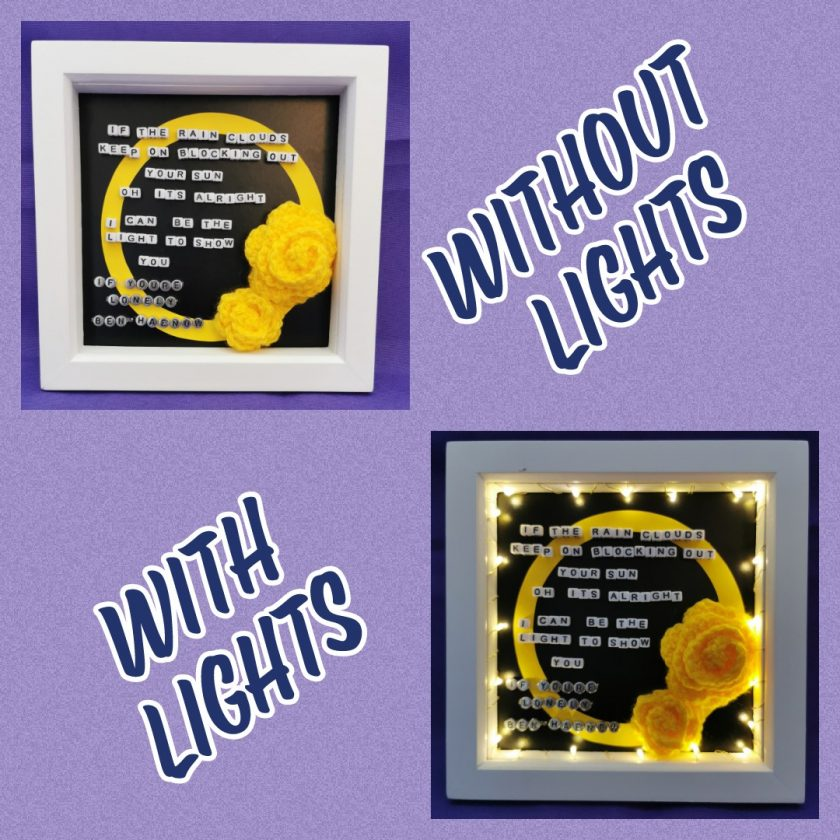 Limited Edition Handmade Lyrics Picture in Box Frame 1