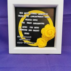 Limited Edition Handmade Lyrics Picture in Box Frame 4