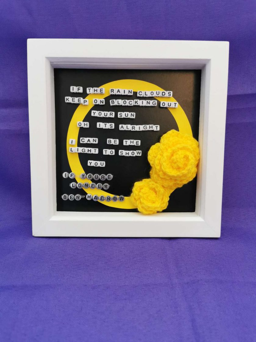 Limited Edition Handmade Lyrics Picture in Box Frame 2