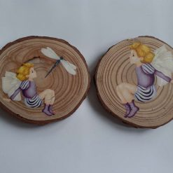 wooden flower log coasters